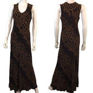 Betsey Johnson   Animal Print Maxi Dress